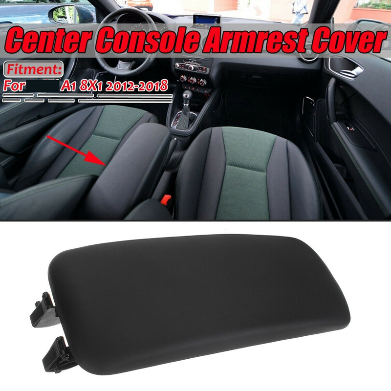 Center Console Armrest Upper Arm Lid For AUDI A1 8X1 8XK 2012-2018 8X0864245B Black Center Armrest Cover
