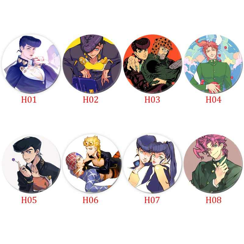 Anime Jojo 'S Bizarre Adventure Cosplay Badge Cartoon Collectie Tassen Badges Voor Rugzakken Knop Kleding Broche Pins Geschenken