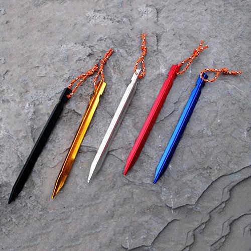 "Kaendi Tent Stakes Pegs 7/"" Aluminium Alloy Reflective Rope 10-Piece"