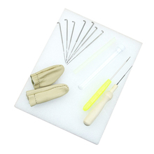 1 Набор игл для валяния стартовый набор шерстяной войлок коврик для инструментов+ игла+ аксессуары ремесло