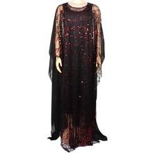 Новое Стильное классическое Африканское платье для женщин Африканская Одежда модное Африканское платье с блестками Свободное длинное традиционная Дашики