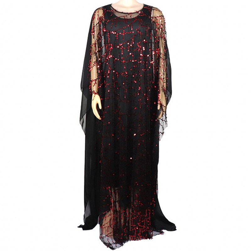 New Style Classic African Dress For Women African Clothes Fashion African Sequins Robe Loose Long Dashiki Traditional Dress Lady