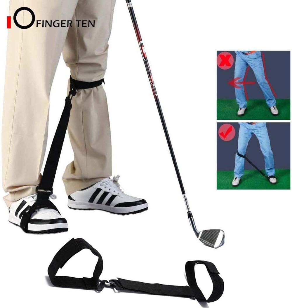 Golf Swing Trainer Leg Correction Belt Training Aid Post Orthotics Strap Poster Corrector For Men Women