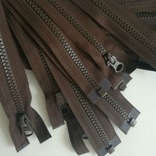 2pcs/lot Cheap Long Ykk Zipper Resin Open End Jacket Deep Brown Coffee Zippers for Sewing