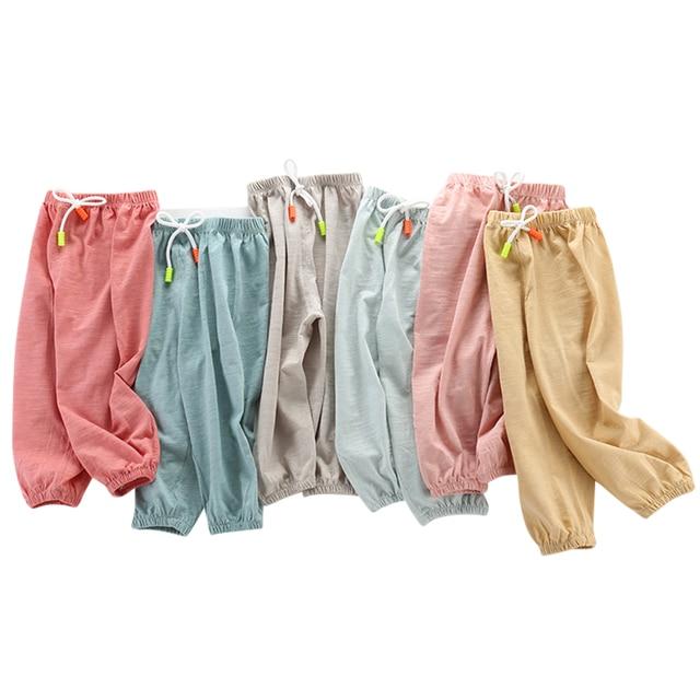 Per bambini Anti-Zanzara Pantaloni Primavera Estate Infantile Aria Condizionata Pantaloni Pantaloni Dei Ragazzi e Delle Ragazze Lanterna Pantaloni Del Bambino Casual 1