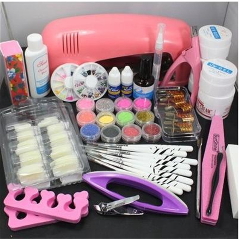 12 Color Glitter UV Gel Nail Dryer Manicure Material Gel Tweezers Nails Paint Accessories Nail Art Tools Set Kit For Cosmetic