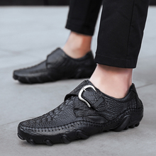 Men Causal Shoes Fashion British Style Genuine Leather Four S Outdoor Flats male Winter shoes size 38-47 %K007