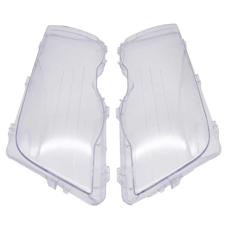 1 زوج سيارة العلوي غطاء عاكس الضوء مقاوم للماء مشرق شل غطاء لسيارات BMW E46 3 سلسلة 4 باب 1998-2001 مصباح واضح غطاء للعدسات