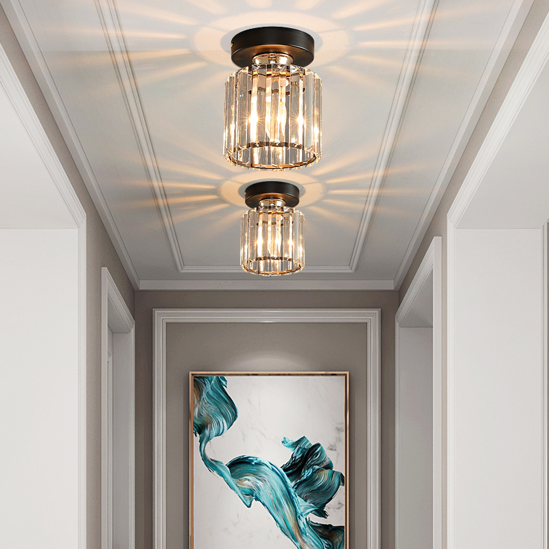 Modern Creative Crystal Led Chandelier Pendant Lamp E14 Industrial Lustre Pendant Lamps For Kitchen Decorative Hanging Luminaire