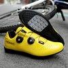 2020 nova estrada borracha-sola sapatos de ciclismo ultra-leve antiderrapante profissional auto-bloqueio sapatos esportes ao ar livre efeito fluorescente 20