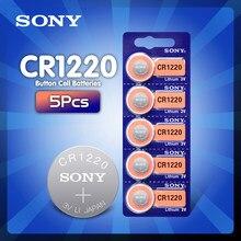 5 pces sony 3v cr1220 lithim li-ion bateria dl1220 br1220 ecr1220 lm1220 kcr1220 l04 5012lc botão bateria da moeda bateria substituir