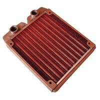 G1/4 Polegada 120mm totalmente vermelho cobre radiador de água de refrigeração do radiador adequado computador dissipador de calor de refrigeração de água apto para 120mm ventiladores 21mm