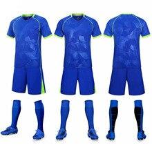Adultos en blanco de manga corta uniforme fútbol pantalones cortos jersey traje entrenamie