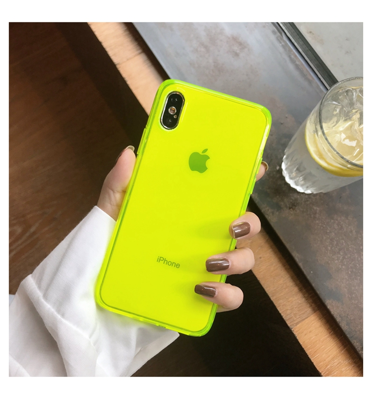 Fashion Fluorescent <font><b>yellow</b></font> green <font><b>Phone</b></font> <font><b>Case</b></font> For <font><b>iphone</b></font> 11 Pro Max XR X XS Max 7 8 plus Cover luxury Couple Transparent Soft <font><b>Case</b></font> image