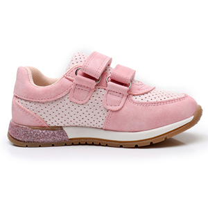 Image 3 - Apakowa Girls Sneaker Shoes Lovely Cute Kids PU Leather with Heart Patched Childrens Hook and Loop Girls Sneaker EU 22 27