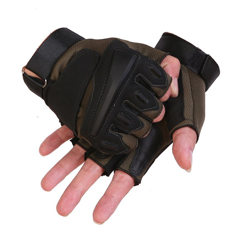 1 Pair Tactical Sports Fitness Weight Lifting Gym Gloves Training Fitness Bodybuilding Workout Wrist Wrap Exercise Glove For Men