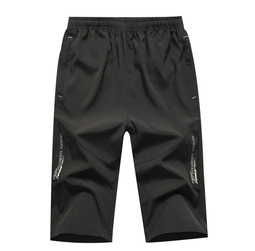 AXSM38 Hot Sale Summer Fashion Casual Loose Mens Cropped Short Pants Sweatpants Jogger Shorts Men