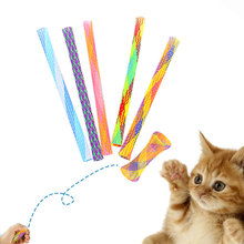 5Pcs Flying Spring Cat Interactive Toys Random Color Springs Toy Playing Pet Supplies