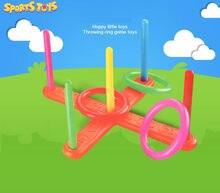 1 conjunto anel de argola lance quoits anel plástico jogando virola engraçado crianças esporte ao ar livre brinquedos cross garden jogo piscina para crianças presente