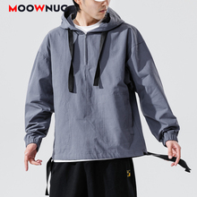 New Jackets Loose Hip Hop Solid Hat Men's Clothes Hombre Spring 2020 Outerwear Coats Dress Boys Kpop Fashion Casual MOOWNUC MWC