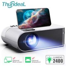 Thundeal TD60 mini portatil projetor full hd 3d led projector smartphone para espelhamento celular beamer home cinema em casa wifi android 6,0 sistema multi tela suporte 1080p video sincronização sem fio oferta