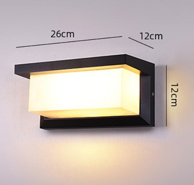 Outdoors Motion Sensor Rectangle Simple Home Use Modern Waterproof Radar Wall Lamp LED Light Courtyard Garden Porch Decorations