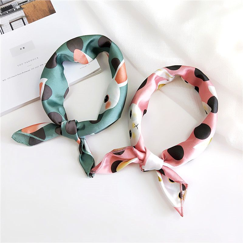 New 50 Small Silk Towel Small Square Towel Female Spring And Autumn Summer Professional Hundred Change Decorative Scarves Scarf
