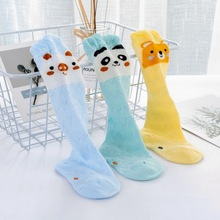 3Pairs/Lot Cute Baby Socks Spring Summer Newborn Infant Socks For 0-3 Years Old Baby Cartoon Pattern Cotton Mesh Socks 3pairs lot newborn baby girls socks summer spring mesh socks kids bow socks princess infant baby socks baby boy foot sockes