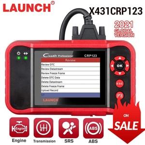 Image 1 - LAUNCH X431 CRP123 OBD2 EOBD automotive scannerABS Airbag SRS Transmission Engine Car Diagnostic Tool Multilingual free update