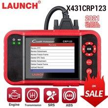起動X431 CRP123 OBD2 eobd自動車scannerabsエアバッグsrs伝送エンジン車診断ツール多言語無償アップデート