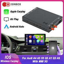 Wireless IOS CarPlay For Audi A4 A5 S5 Q5 A1 Q3 A6 Q7 with MMI 3G, With Android Auto Mirror Link Car Play Functions