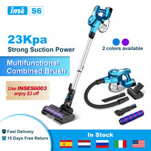 Vacuum Cleaner Wireless 23Kpa 250W Brushless Motor Cordless Vacuum Cleaner Up To 40 Mins Runtime 2500mAh Rechargeable Battery
