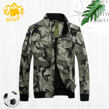 Boys coat spring and autumn 2019 new childrens camouflage jacket chunky style