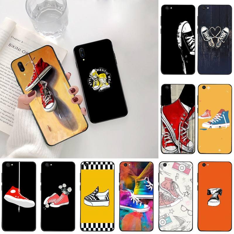 Trend Fashion Skateboard Shoe Cover Black Soft Shell Phone Case For Vivo Y91c Y17 Y51 Y67 Y55 Y93 Y81S Y19 V17 Vivos5