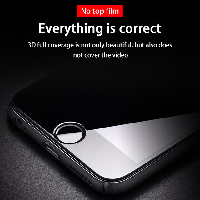 3PCS Full Cover Protective glass on For iphone 7 8 tempered Glass Film On iPhone 6 6s Plus SE 2020 Screen Protector Curved Edge 4
