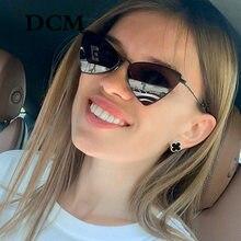 DCM – lunettes De soleil Triangle en métal pour femmes, verres solaires De marque, rétro, lentille d'océan, UV400 Gafas De Sol Mujer
