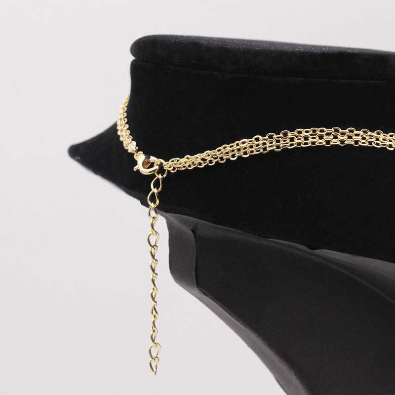 Nouveau chaîne multicouche colliers et pendentifs pour femmes Vintage charme or collier ras du cou bohème bijoux cadeau