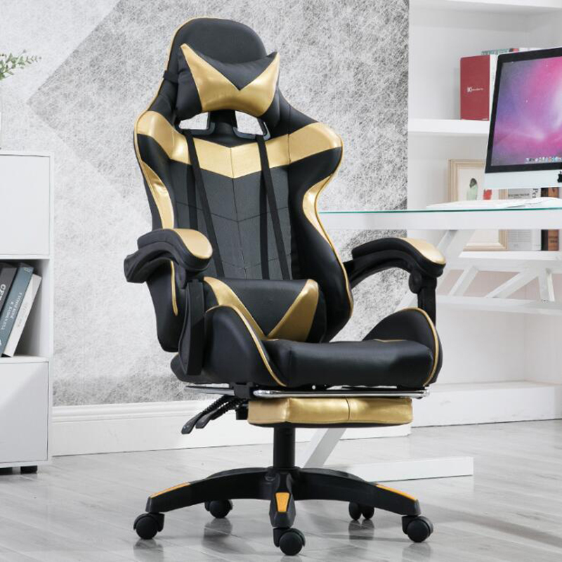 VESCOVO Adjustable Chair Computer Massage Gaming Silla