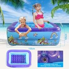 Brinquedos infláveis do centro do divertimento do jogo da natação da água do verão da família das crianças dos desenhos animados pvc piscina banheira de banho para crianças piscina inflável