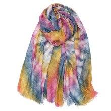 BPP Winter Spring Warm Soft Tie dye Scarf Neutral Bussiness Multicolor Style Versatile Fashion Luxury Warm Scarf Sunscree Shawl