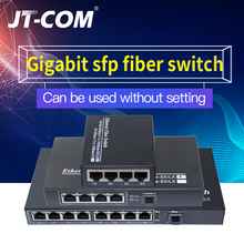 1000M 1G4E 1 sfp slot fiber 4 8 RJ45 Gigabit optical Media Converter Ethernet Network Switch fibra optica transceiver