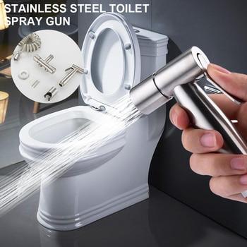 Stainless Steel Hand Bidet Faucet for Bathroom Hand Sprayer Shower Head Self-Cleaning Handheld Toilet Bidet Sprayer Set