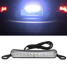 Mayitr 1pc 12SMD Universal 6000K White Bolt-On LED Number License Plate Light Lamp Car Exterior Accessories For Auto Truck SUV