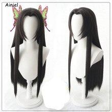 Anime Demon Slayer Cosplay peluca destruir peluca accesorios para el pelo de mariposa gradiente peluca mujer chica