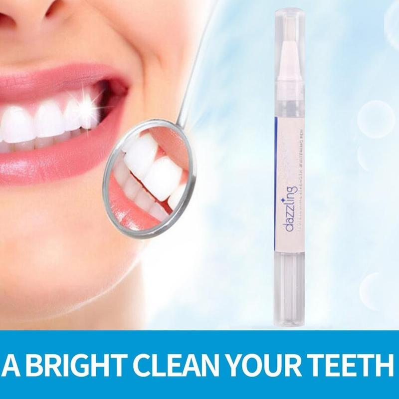 Tooth Cleaning Bleaching Kit Dental White Rotating Teeth Whitening Pen Removes Smoke Tea Coffee Cola Yellow Stains