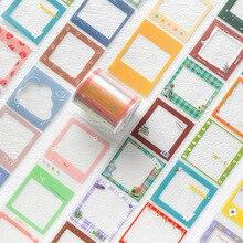 Stationery-Supplies Frame Pet-Tape Journal JIANWU Translucent School Decoration Simple