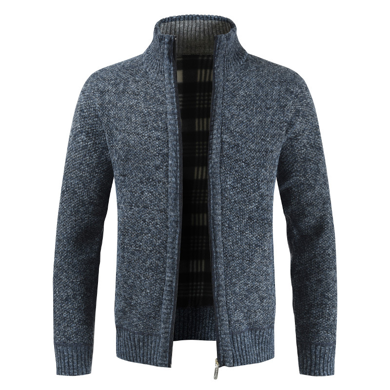 Men Autumn Winter Sweater Thick Warm Soft Pullover Sweater Jackets Men Zipper Knitted Thick Coat Turtleneck Knitwear