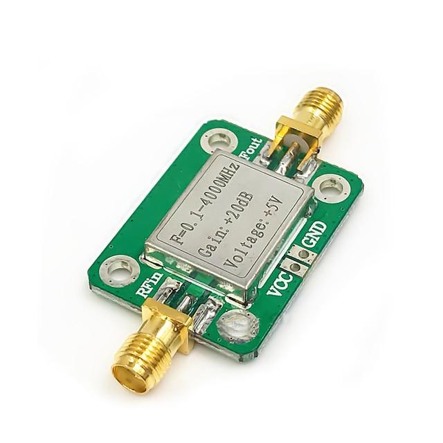 0.1 4000MHz Broadband RF Amplifiers Microwave Radio Frequency Amplifier Module Gain 20dB LNA Board Modules