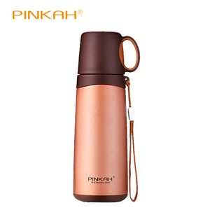 Image 2 - PINKAH Thermosfles 420 ml 520 ml Roestvrijstalen Thermoskan Reizen Koffie Thermo Mok School Geïsoleerde Fles Thuis Thermo cup
