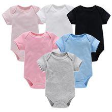 Macacão de bebê menina menino roupas definir algodão macio da criança recém nascido 0 3 meses ropa para bebe 6 a 9 meses verão manga curta 2021
